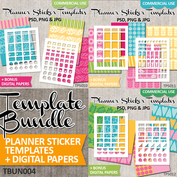 image about Diy Planner Templates named Do it yourself Program Sticker Package / Blank Templates Package Vol. 4 / Erin Condren Daily life Planner