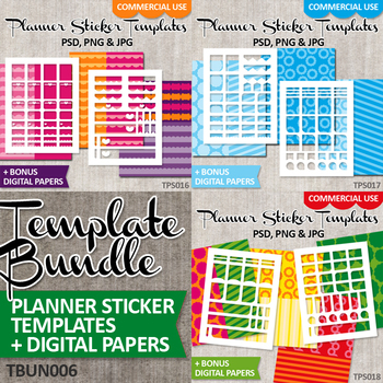 DIY Plan stickers starter kit templates Vol 6, Erin Condren Life Planner Bundle