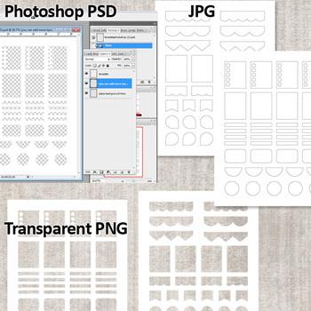 DIY Planner Sticker / Blank Template Bundle Vol. 2 / Erin Condren Life Plannner