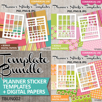 photograph relating to Diy Planner Templates referred to as Do-it-yourself Planner Sticker / Blank Template Package deal Vol. 2 / Erin Condren Lifestyle Plannner
