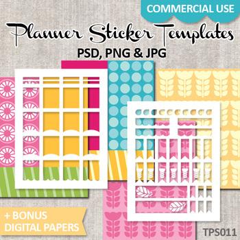 DIY Planner stickers, templates download EC Life Planner / No. 11