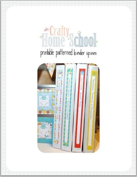 DIY Printable Binder Spines 1 inch 1.5 inch and 2 inch