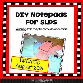 DIY SLP Notepads!!!