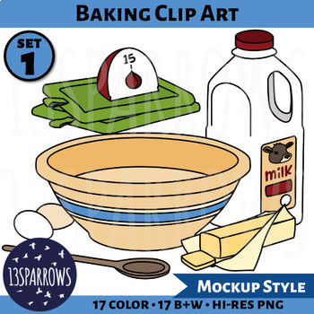 Baking Clip Art, Set 1