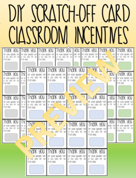 DIY Scratch-Off Card {Classroom Incentive}