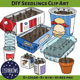 DIY Seedlings Clip Art