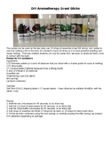 DIY Sensory Aromatherapy Scent Sticks