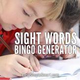 DIY Sight Word Bingo Generator - Full Working DEMO limited