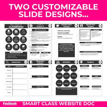 diy smart class website doc google slides style tpt