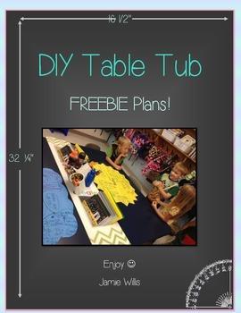 DIY Table Tub Plans FREEBIE