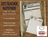 DIY Teacher Note Pad