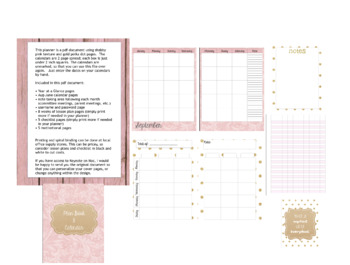 DIY Teacher Planner and Calendar