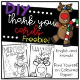 DIY Thank you Cards / Cartes de remerciement FREEBIE!