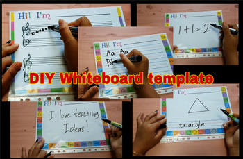 photograph about Printable Whiteboard named Do-it-yourself WHITEBOARD PRINTABLE TEMPLATES