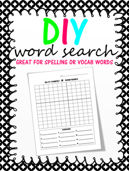 DIY WORD SEARCH - 2 Sizes