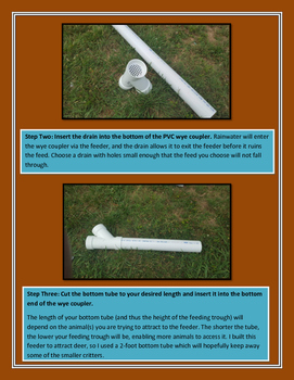 DIY Wildlife Feeder Made from PVC Pipe