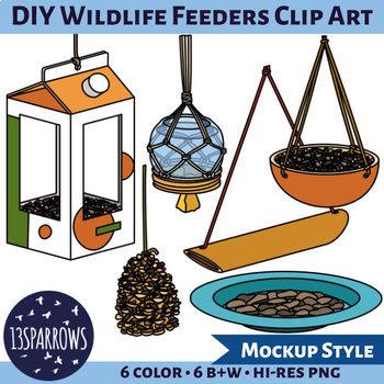 DIY Wildlife Feeders Clip Art