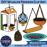 DIY Wildlife Feeders Clip Art