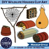 DIY Wildlife Houses Clip Art