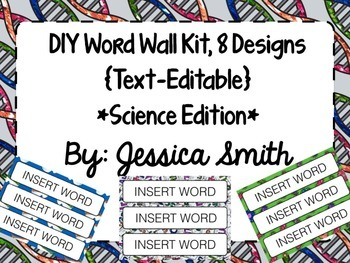 Create Your Own Word Wall Kit {Science Edition}
