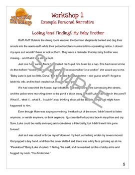 DIY Writing Course: Personal Narratives for grades 3-8