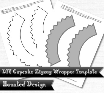 DIY Zigzag Cupcake Wrapper Template