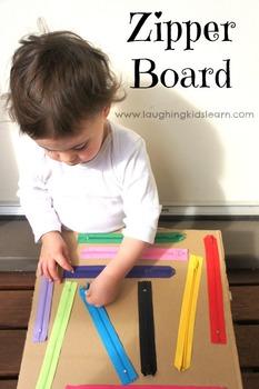 DIY Zipper Board For Toddler Exploration