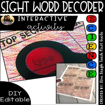 DIY | iSpy Word Decoder Cards | Editable| Literacy Station Activity