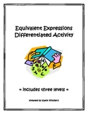 Differentiated Activity: Equivalent Expressions