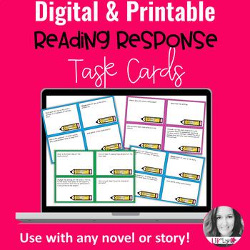 Digital Reading Response Task Cards