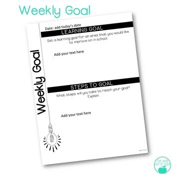 Digital Weekly Learning Reflection & Goals