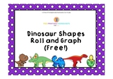 Dinosaur Shapes Roll and Graph