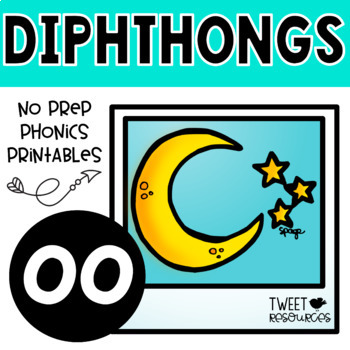 "Diphthongs ""oo"" Phonics Printables"