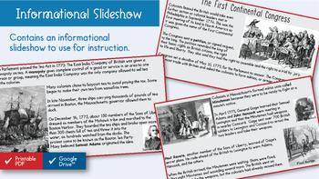 Disagreements Between Colonists and British Grow Interactive Notebook