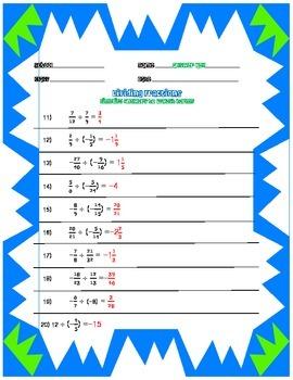 DIviding Fractions Applying Integer Rules