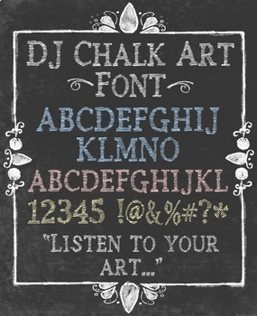 DJ Chalk Fonts Collection