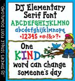 DJ Elementary Serif Font Download