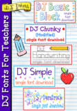 DJ Fonts For Teachers - 5 open type fonts - Distance Learning
