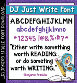 DJ Just Write Font Download