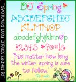 DJ Spring Font Download