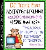 DJ Techie Font Download