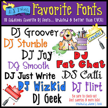 DJ's Favorite Fonts Collection