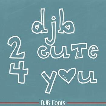 DJB 2 Cute 4 U Font - Personal Use