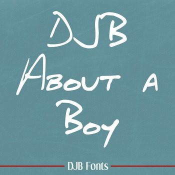 DJB About a Boy Font: Personal Use