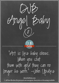 DJB Angel Baby Font - Personal Use