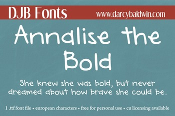 DJB Annalise the Bold Font - Personal Use