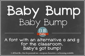 DJB Baby Bump Font - Personal Use