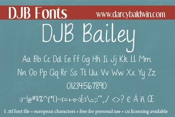 DJB Bailey Font: Personal Use