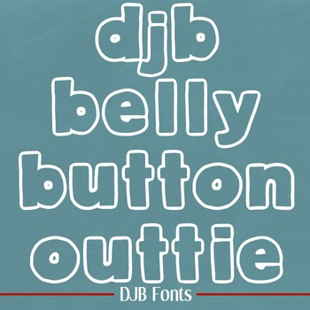 DJB Belly Button Outtie Font - Personal Use