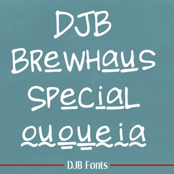 DJB Brewhaus Special Font - Personal Use